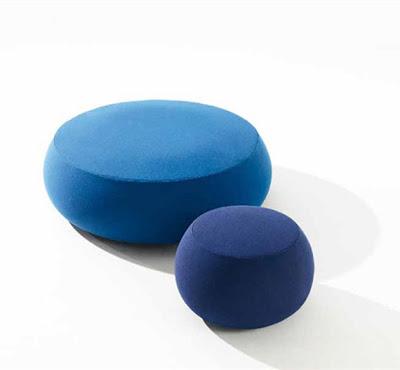 kanepe, mobilya, renkli, yuvarlak,mavi