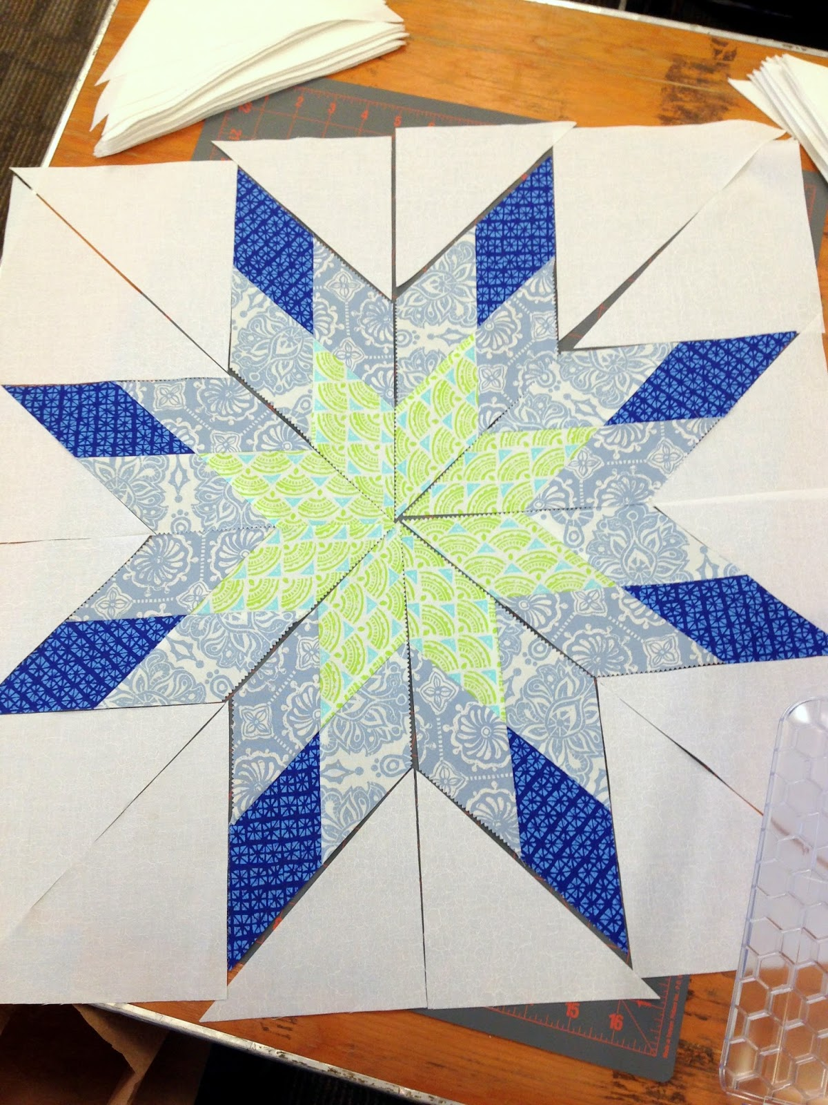 Stories From The Sewing Room Lone Starburst Quilt Class