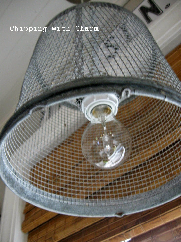 Chipping with Charm: Minnow Basket Pendant Light...http://www.chippingwithcharm.blogspot.com/