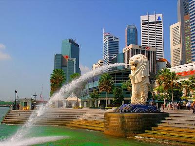 merlion, kepala singa, singapore, singapura, singapur, wisata singapore,