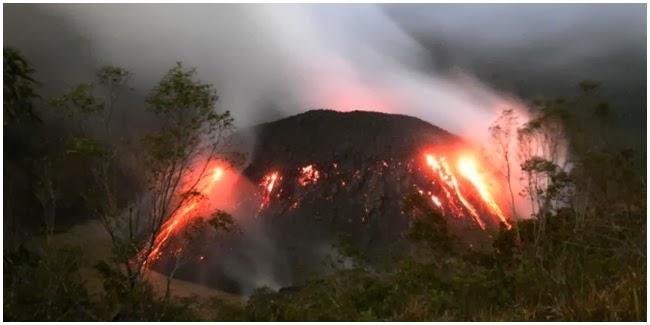 Foto Letusan Gunung Kelud