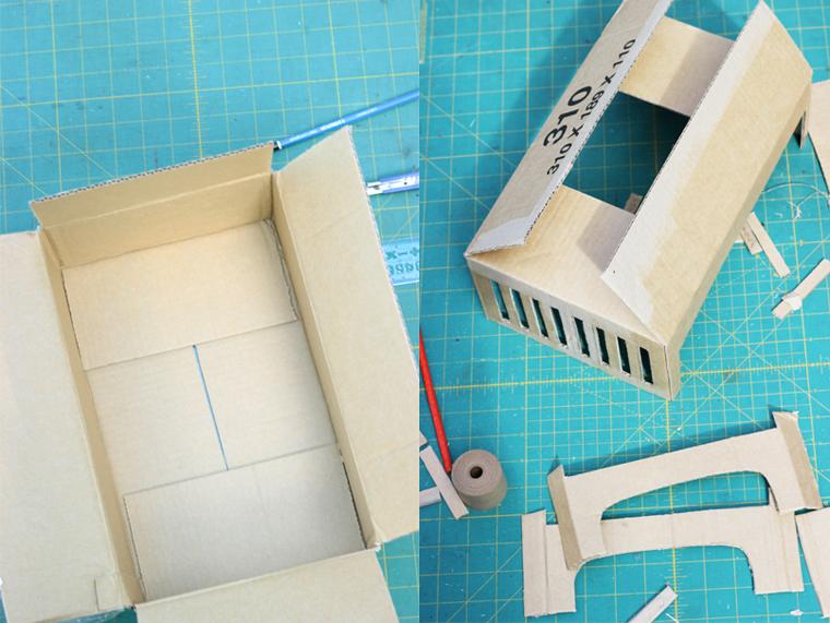 Как сделать кровать для куклы своими руками из картона поэтапные действия 89
