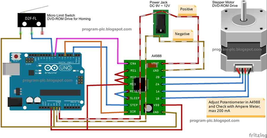 Motion control positioning control for plc using arduino for Arduino stepper motor driver code