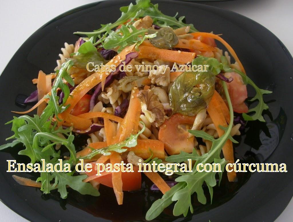 Catas de vino y az car ensalada de pasta integral con c rcuma for Ensalada de pasta integral