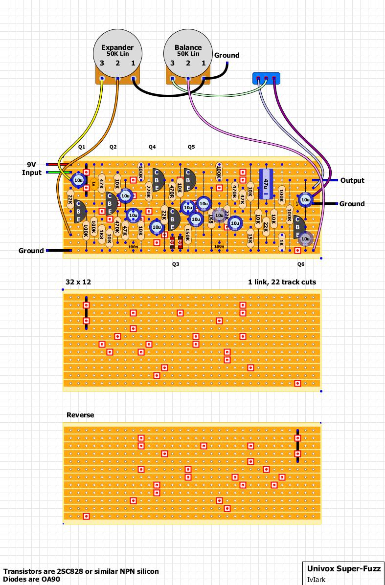 Univox SuperFuzz Biasing on univox strat, univox schematics, univox guitar pedals, univox serial numbers,