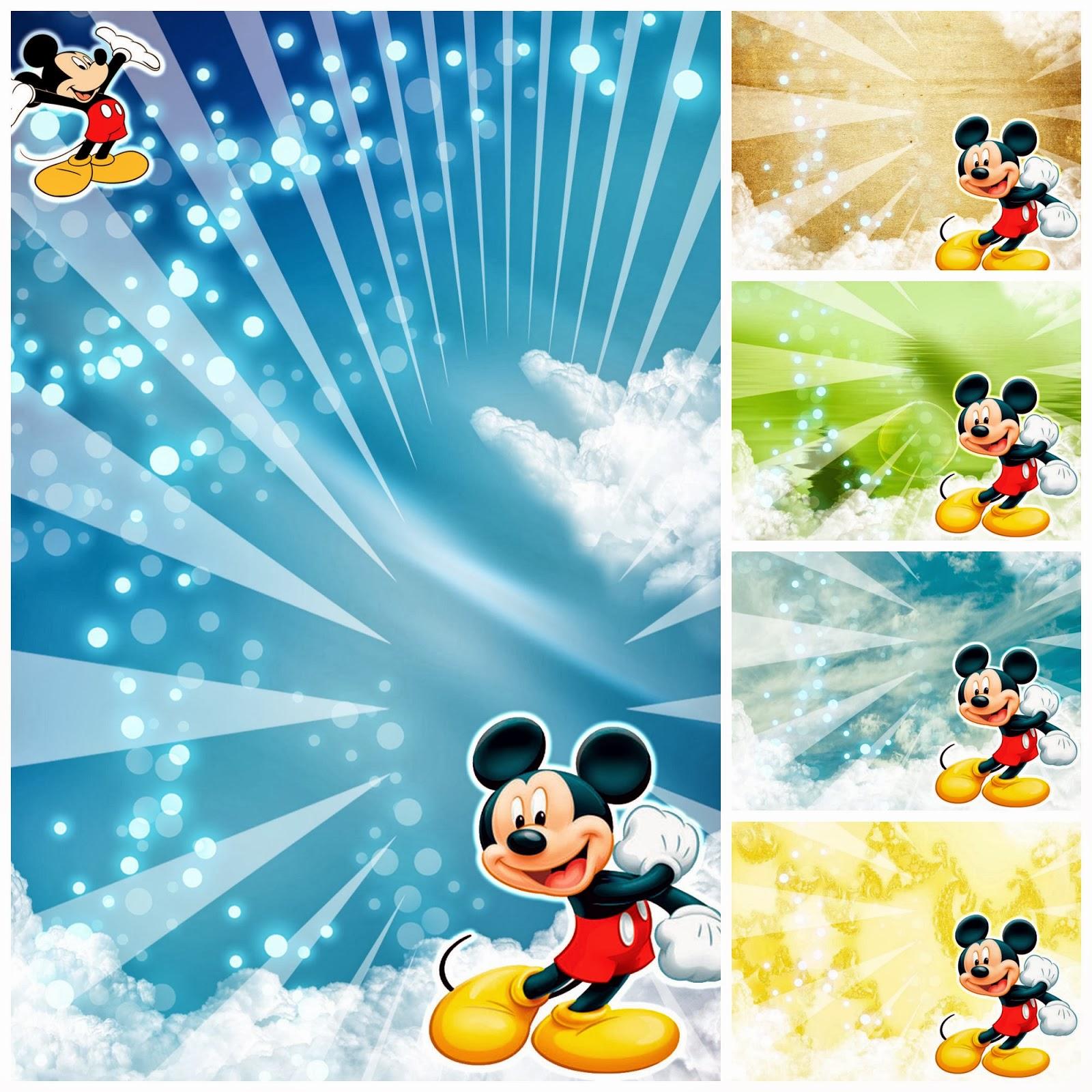 Mickey Mouse Ticket Invitation