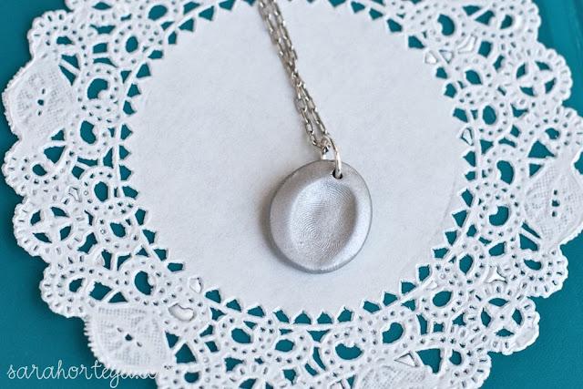 DIY Fingerprint Necklace | Sarah Ortega