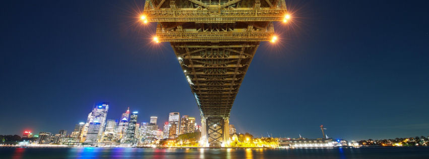 Sydney bay bridge facebook cover