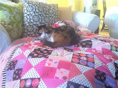 Quilt made with Little Lady fabric by Holly Holderman for Lakehouse Dry Goods
