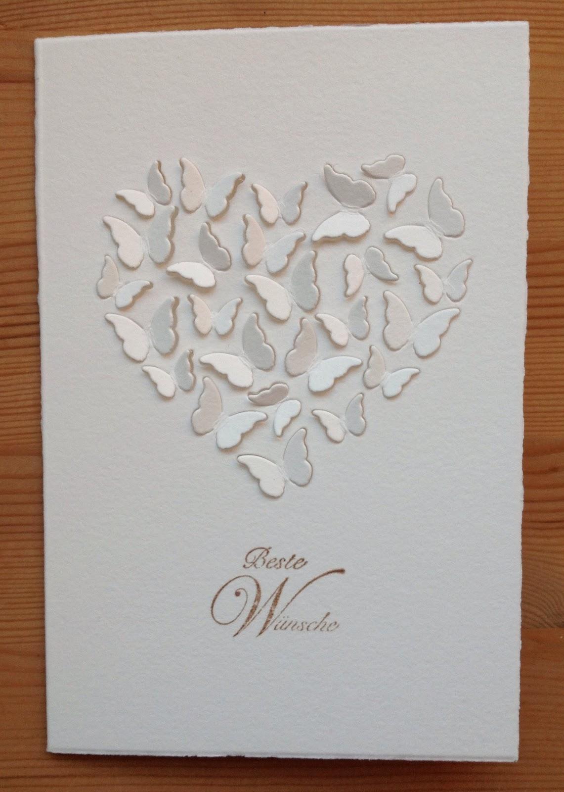 Memory Box Stanzform Herz & Schmetterlinge, Schriftstempel La Blanche
