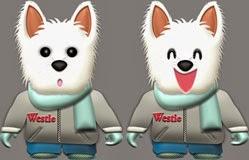 ペット犬イラスト|冬服を着たウェスティのイラスト無料ダウンロード