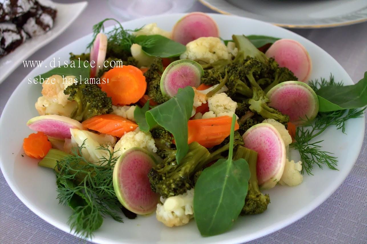 havuç brokoli karnabahar haşlama salatası