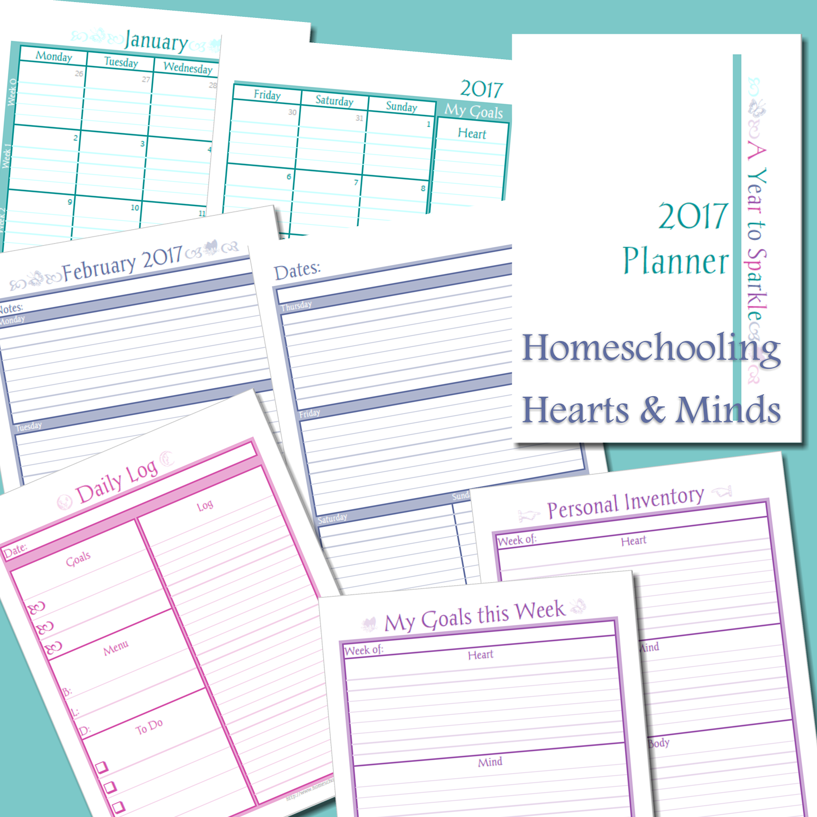 Get the Year to Sparkle Planner for Free!
