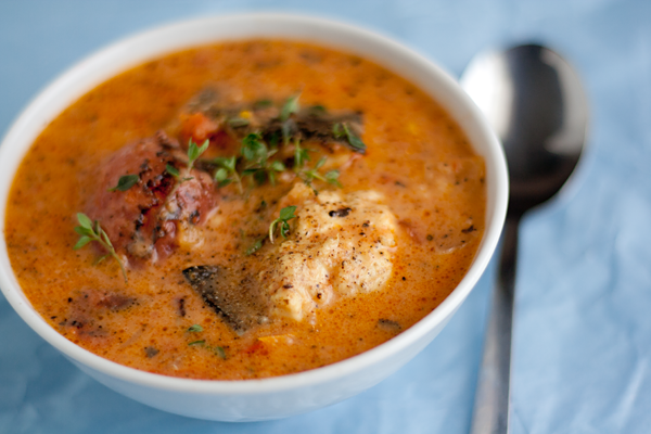 TASTY TRIX: Rustic Tomato & Coconut Fish Soup