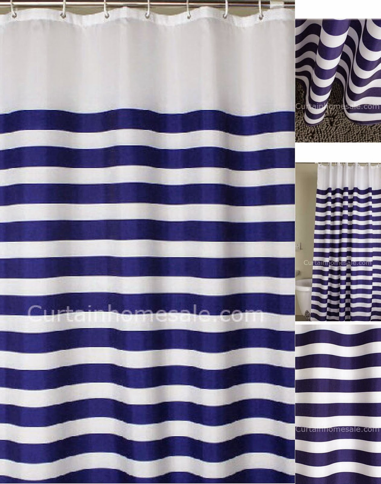 royal blue waffle weave fabric shower curtain. bright blue royal ...