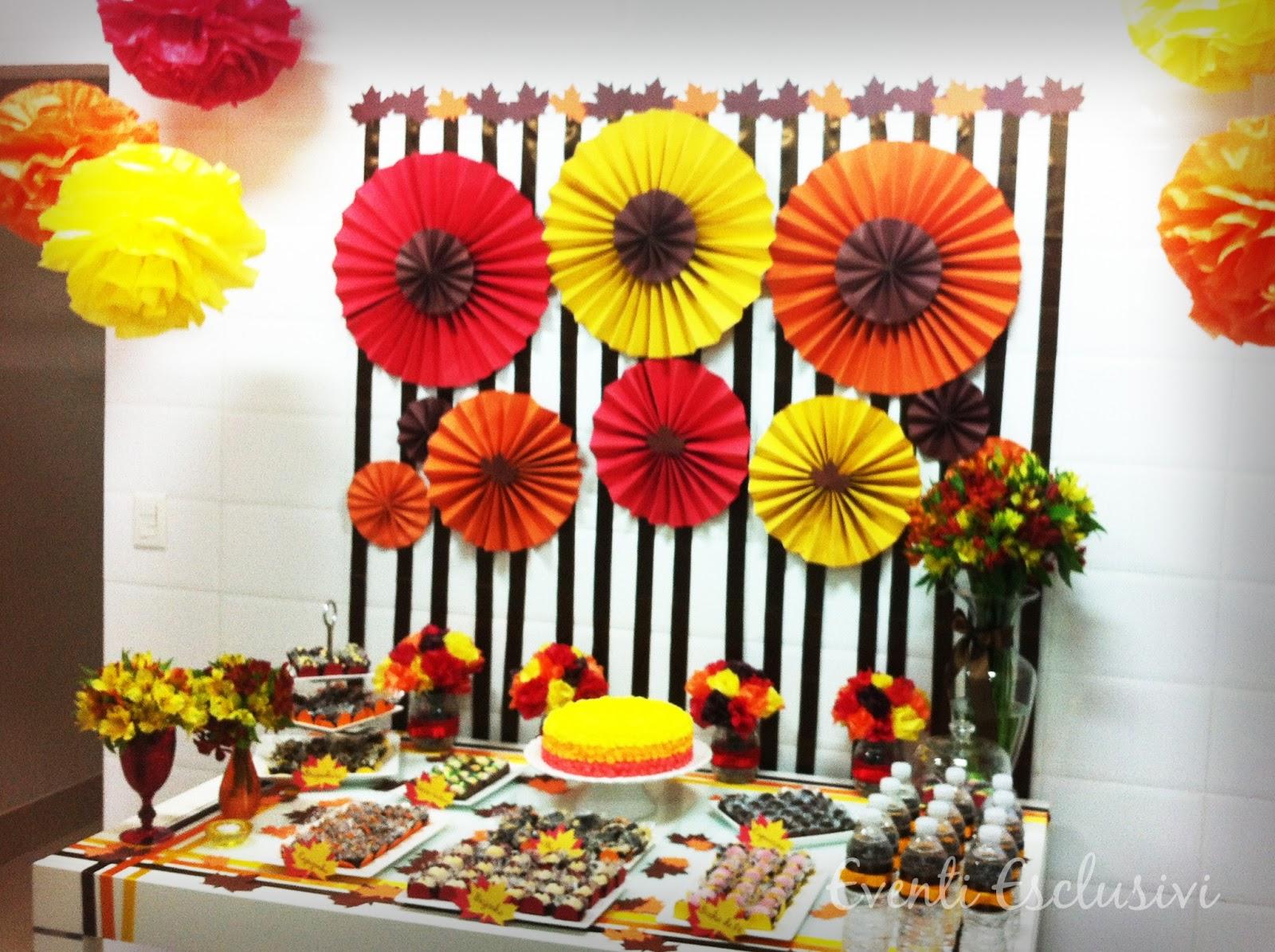 Eventi Esclusivi Cores Quentes! # Decoração Festa Folhas De Outono