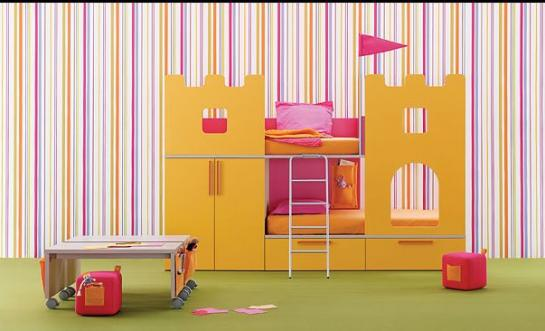 UN CASTILLO PARA TUS PRINCIPES - DORMITORIO CON CASTILLO via www.dormitorios.blogspot.com