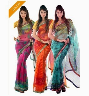 Supernet Sarees Combo (Pack of 3) With Brocade Border By Boondh worth Rs.2099 just for Rs.999 Only