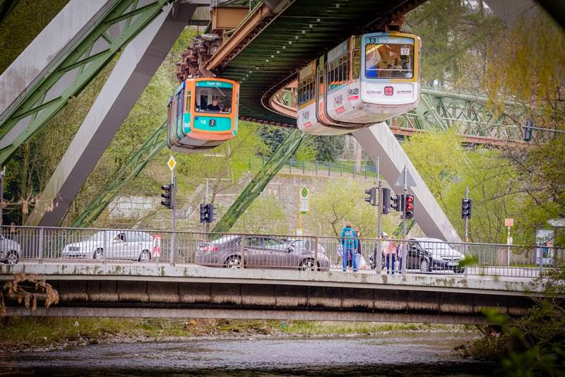 "Schwebebahn Wuppertal is the world's oldest monorail, and, as a ""suspended"" monorail"