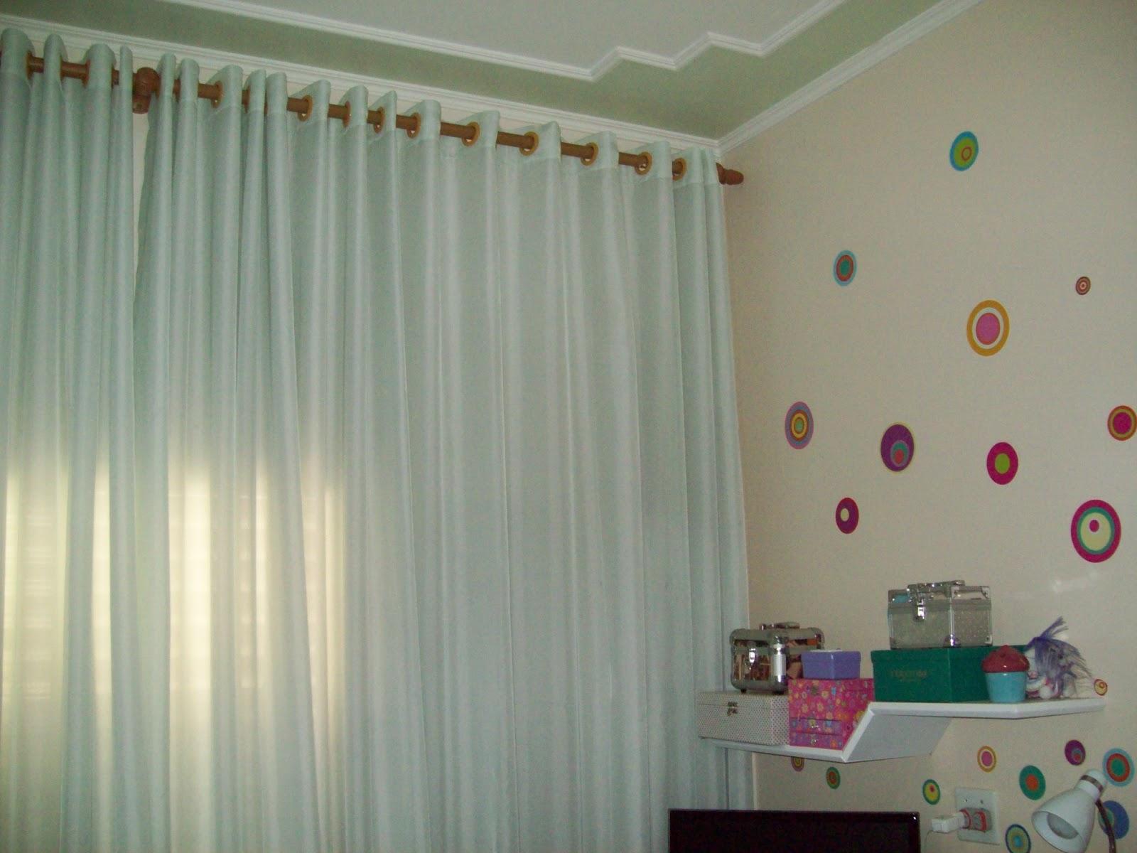 cortinas hs cortina em voil verde gua