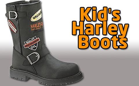 Kid Boots Harley Davidson3