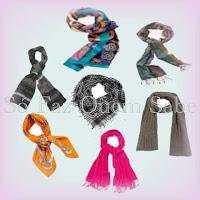 Várias Maneiras de usar e amarrar echarpes, lenços e cachecóis.