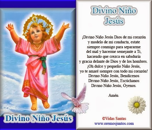 BLOG CATÓLICO NAVIDEÑO: ORACIONES AL DIVINO NIÑO JESÚS EN IMÁGENES