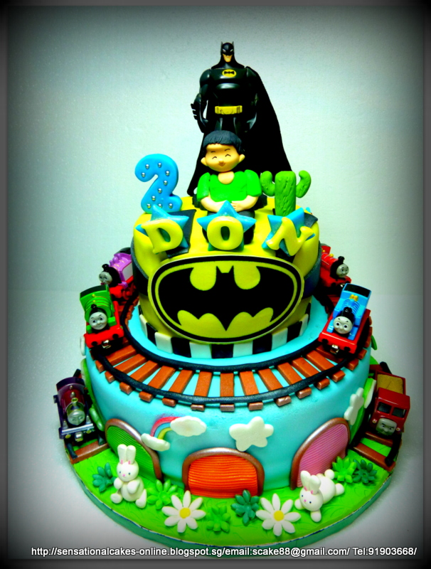 The Sensational Cakes Batman Cake Singapore Thomas Train Cake