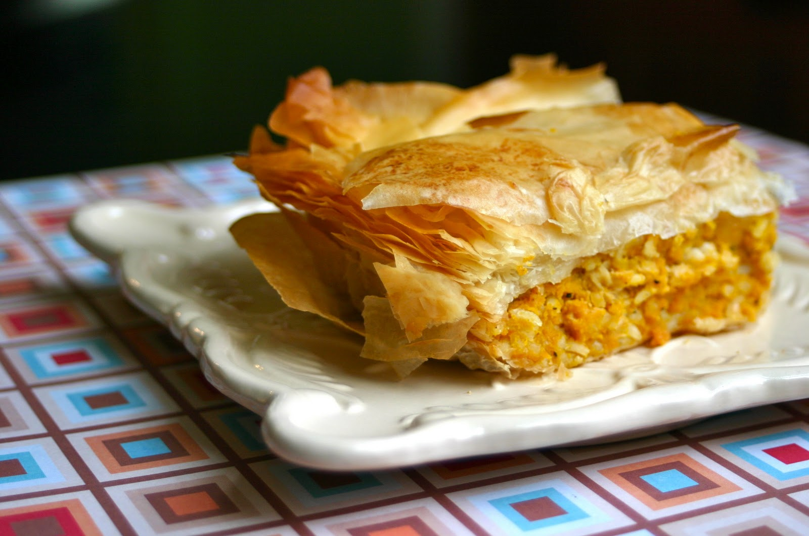My Retro Kitchen: Kolokithopita- Savory Greek Pumpkin Pie