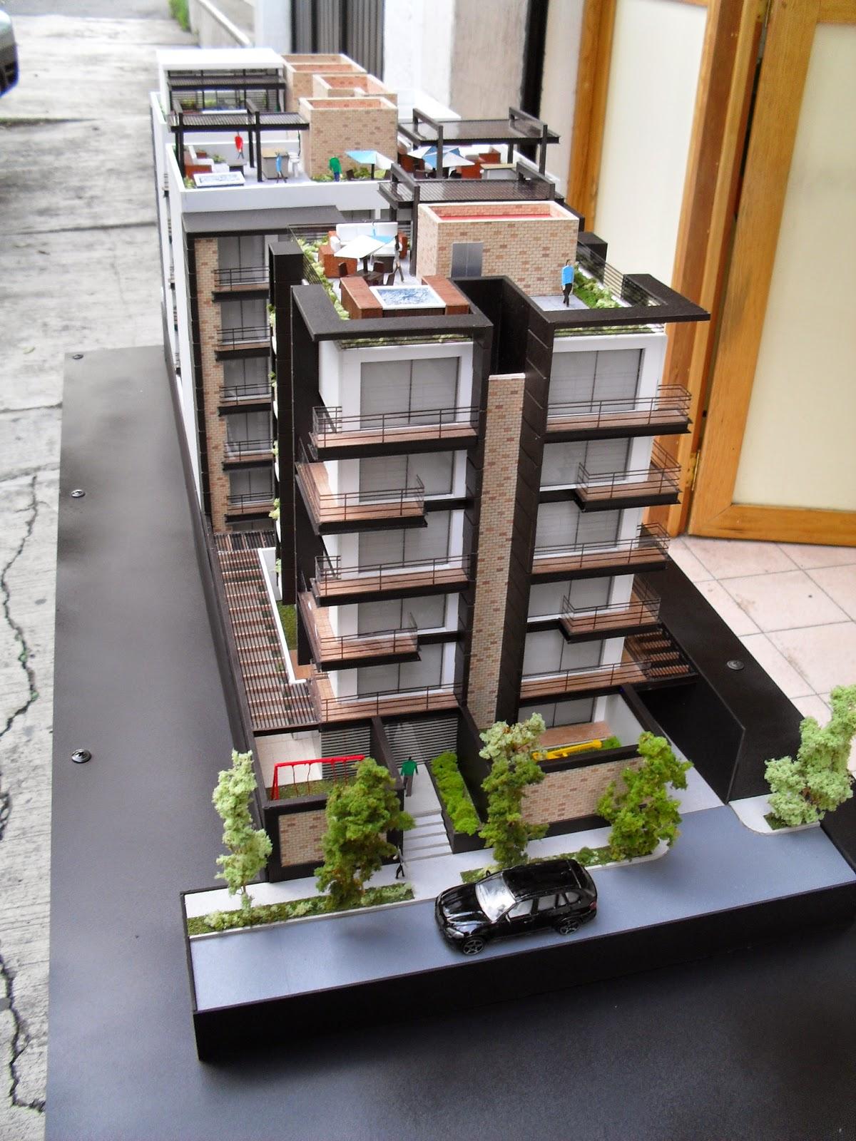 Maqueta de edificio de departamentos for Arquitectura departamentos modernos