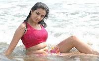 Wet, Anuradha, Mehta, At, Beach, Navel, Stills