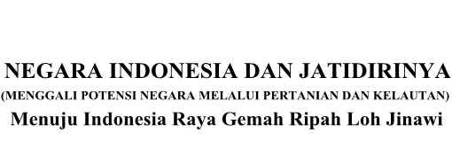 NEGARA INDONESIA DAN JATIDIRINYA