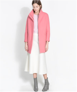 Bubble gum pink mohair coat from Zara, $189