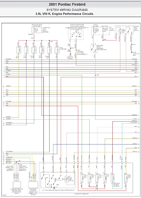 2001 Pontiac Firebird System Wiring Diagrams 17 3 8l Vin K  Engine Performance Circuits Part 2