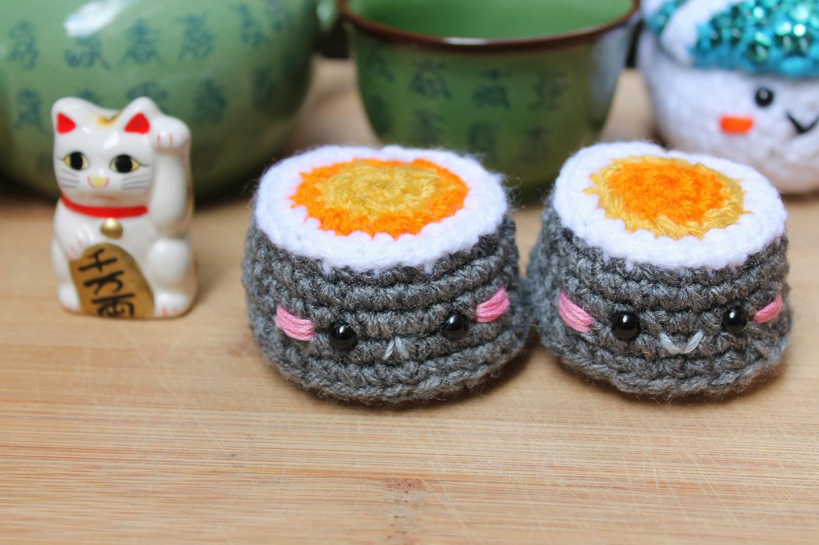 Amigurumi Food Sushi : Amigurumi Food: Sushi & Steam bun