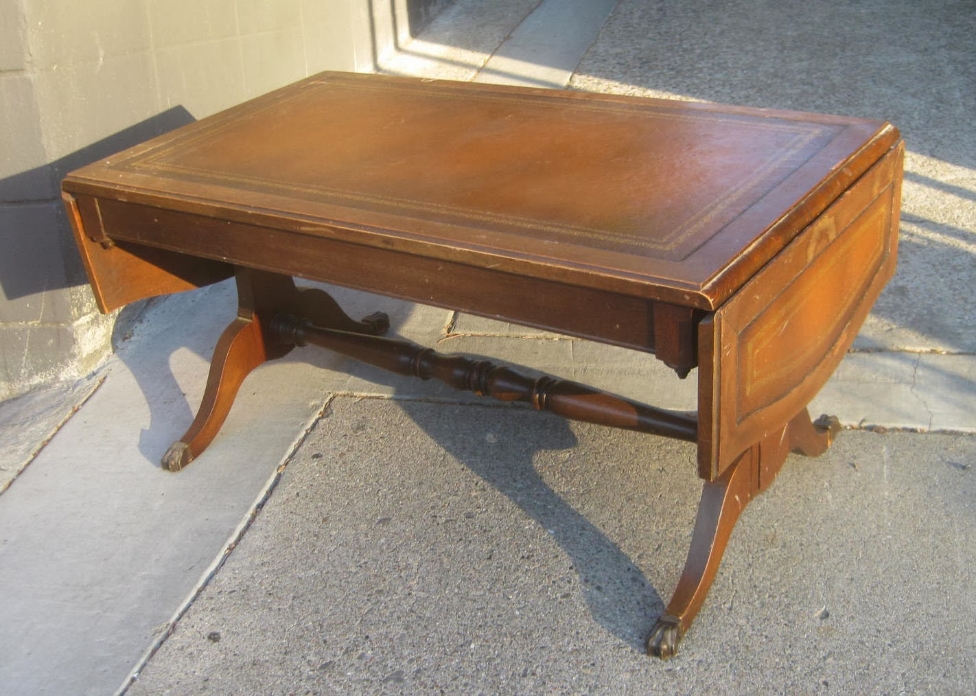 Uhuru Furniture Collectibles Sold Drop Leaf Coffee Table 40