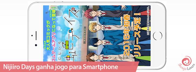 Mangá shoujo Nijiiro Days ganha jogo para Smartphone