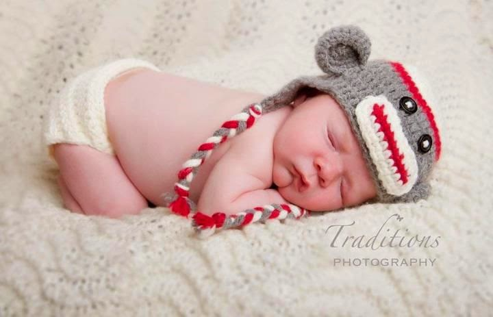 Free Crochet Patterns Monkey Hat : Knotty Knotty Crochet: Free Sock Monkey hat pattern!