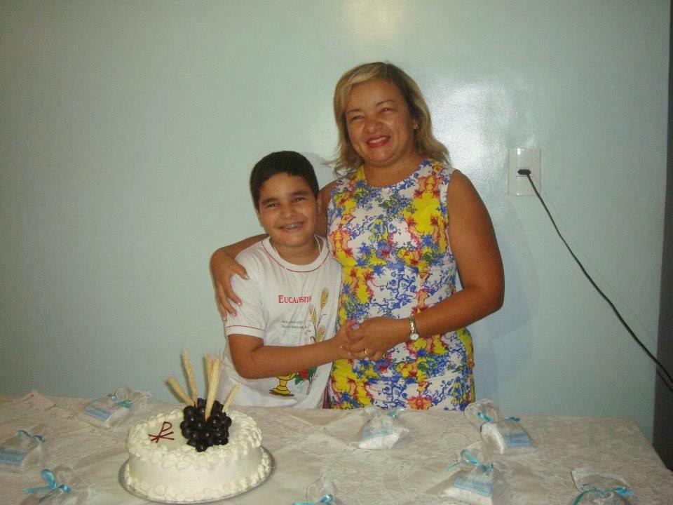 Dani Menezes - mãe Arthur - Lembrancinhas 1ª Comunhão