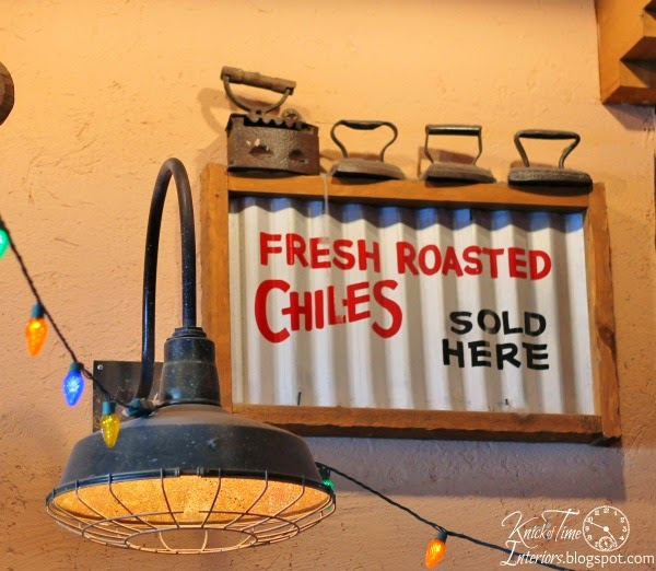 Corrugated Metal Sign via http://knickoftimeinteriors.blogspot.com/
