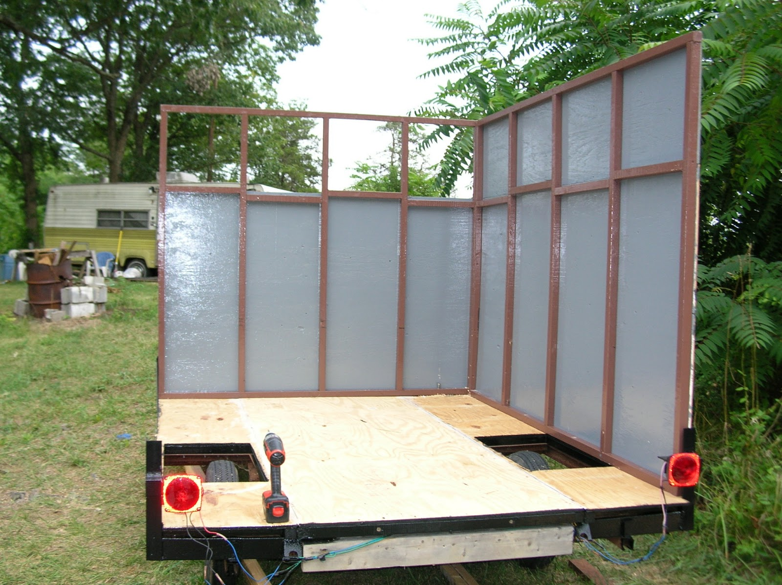 Build Your Own Enclosed Trailer Using A Pop Up Camper