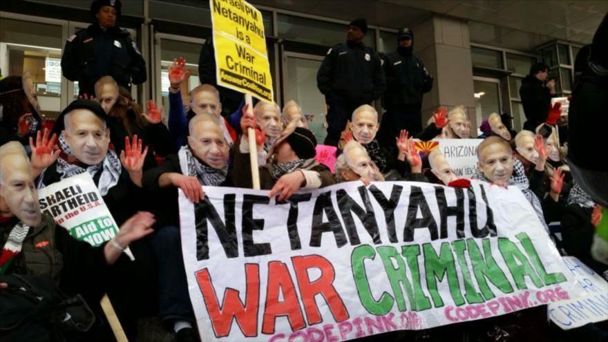 Protestan en EEUU contra polémico viaje de Netnyahu