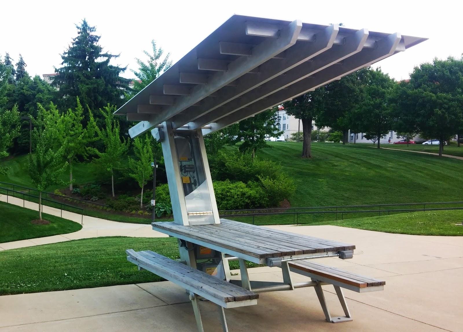 Wheres The Solar Second Solar Table - Solar picnic table