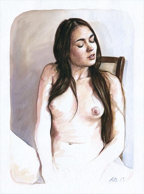 René Bui - Etude de nu à l'aquarelle 150154 - 2015