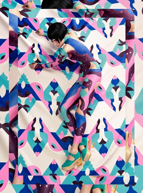 © Janine Rewell |  Bodypaint Collaboration for MINNA PARIKKA SS14