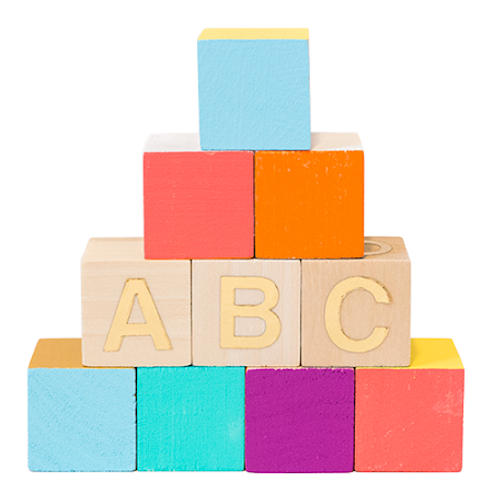 Colorful Blocks by Love. Luck. Kisses & Cake | LLK-C.com