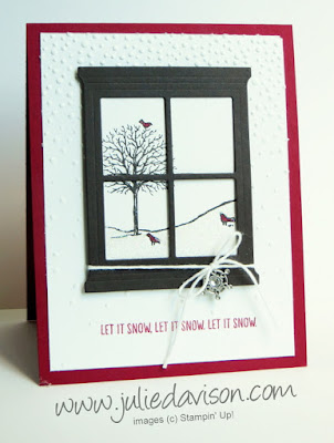Stampin' Up! Happy Scenes Window Christmas Card with Heart & Home Framelits 2015 Holiday Catalog #stampinup #christmas www.juliedavison.com