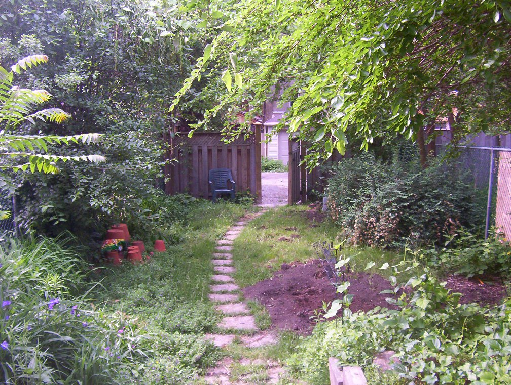 Riverdale Ave. Toronto backyard garden renovation before Paul Jung Gardening Services
