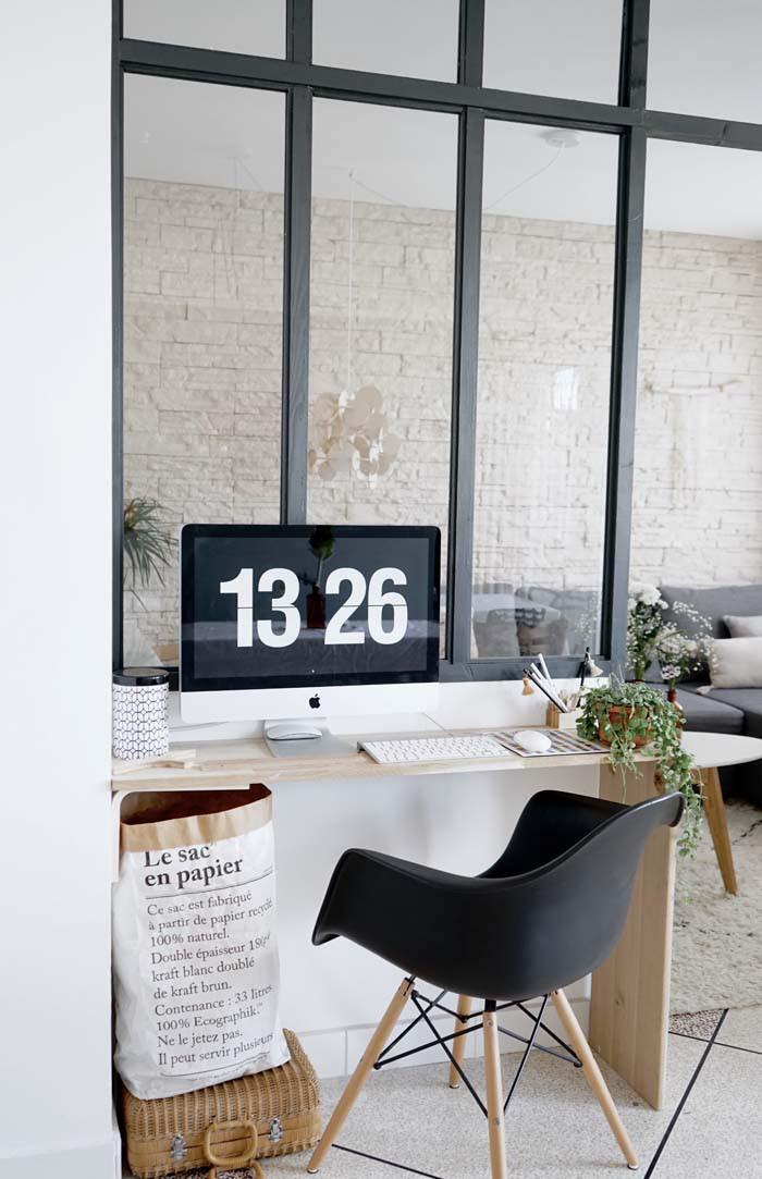 c mo hacer un separador de ambientes con zona de trabajo tr s studio blog de decoraci n. Black Bedroom Furniture Sets. Home Design Ideas