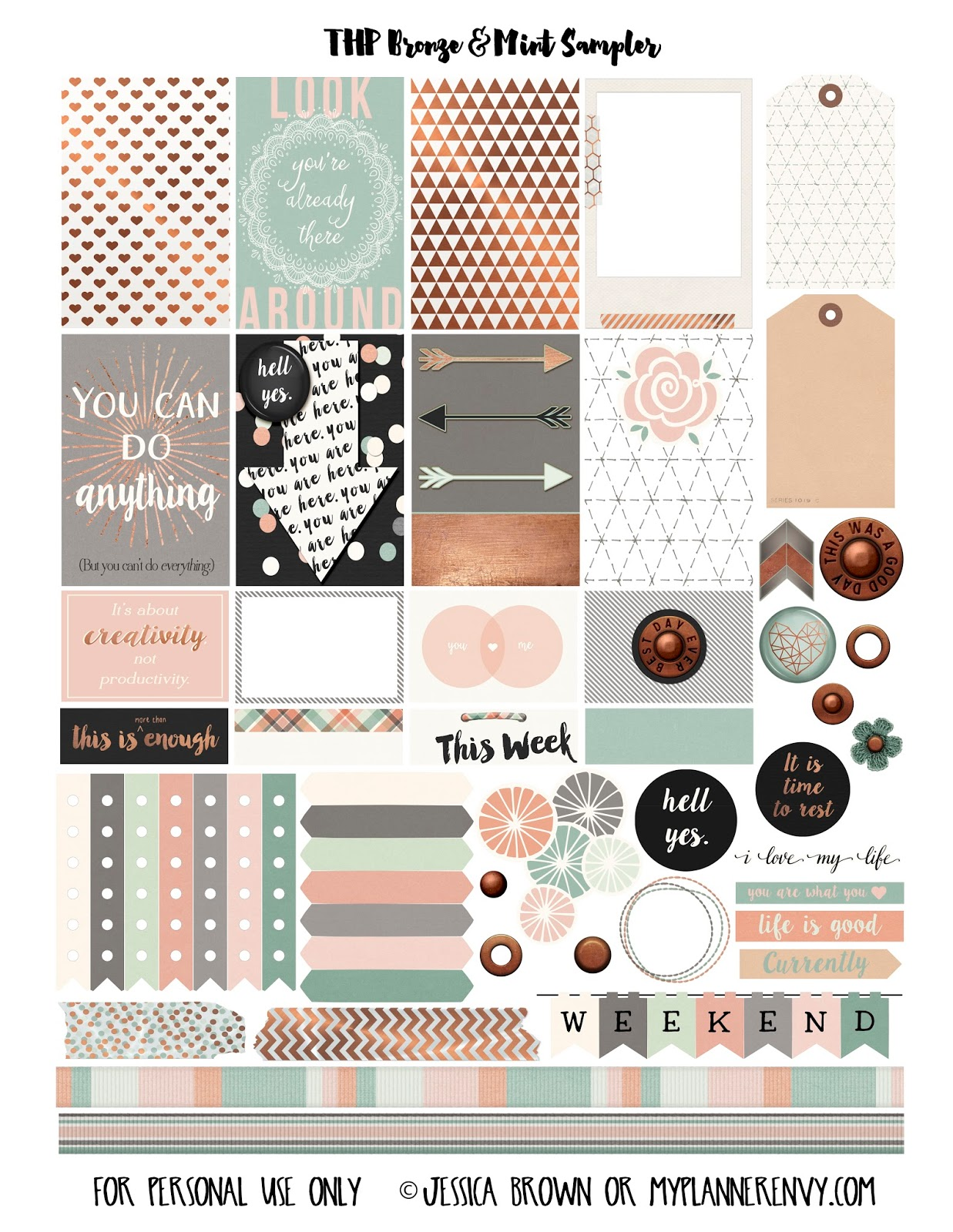 Best sticker printables for free for Create planner online